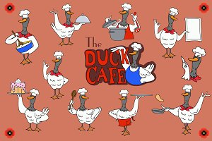 The Duck Cafe illustrations
