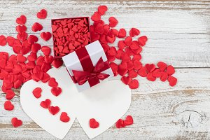 Valentines Candy in Gift Box