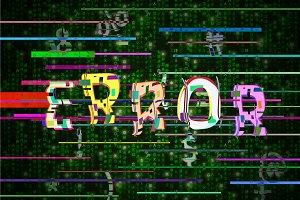Fatal error glitch on green matrix