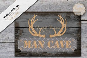 Man Cave with Antlers