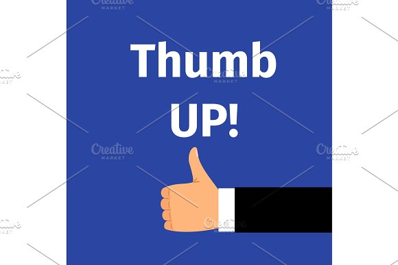 Thumbs up motivation poster with hand
