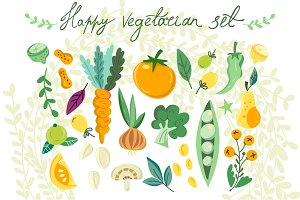 Happy vegetarian set