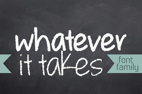 Whatever it Takes Font Family in Script Fonts