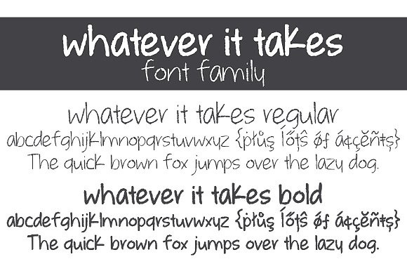Whatever it Takes Font Family in Script Fonts - product preview 1