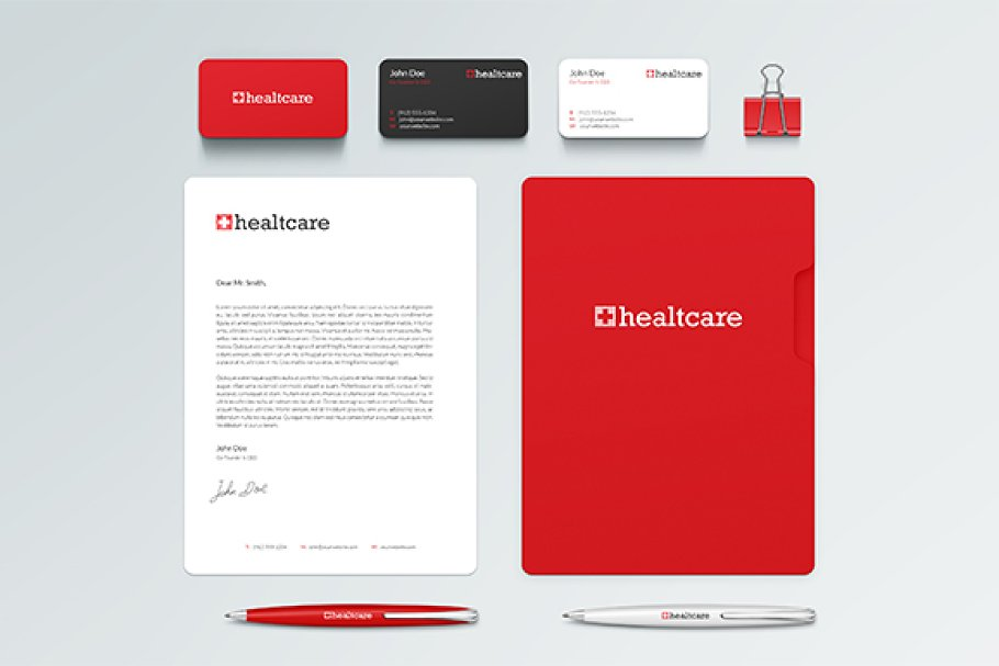 Healtcare Mini Brand Identity Branding Mockups Creative Market
