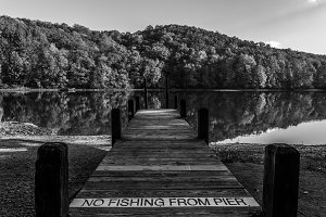 No fishing from Pier