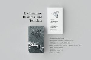 Rachmaninov. Business Card Template