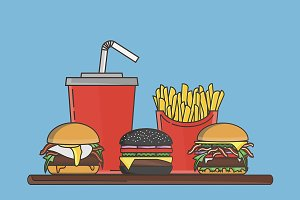 Fastfood vector illustration