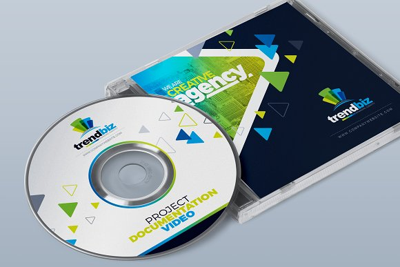 CD Cover Template ~ Stationery Templates ~ Creative Market