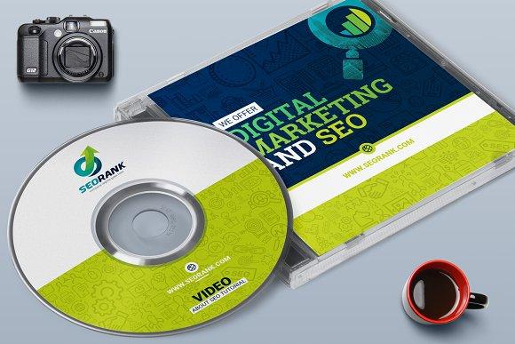 cd label album design template templates creative market