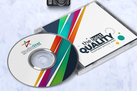 creative cd label template templates creative market