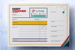Debit and Credit Cash Voucher