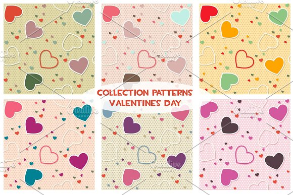 Colored seamless pattern background valentine heart vector illustration printing onto fabric and scrapbook pape