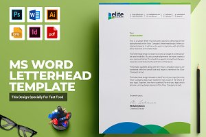ms word letterhead template stationery templates creative market