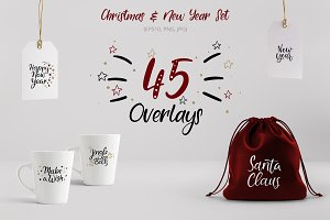 45 Christmas Overlays