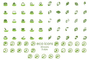Eco Icons For Web and Mobile