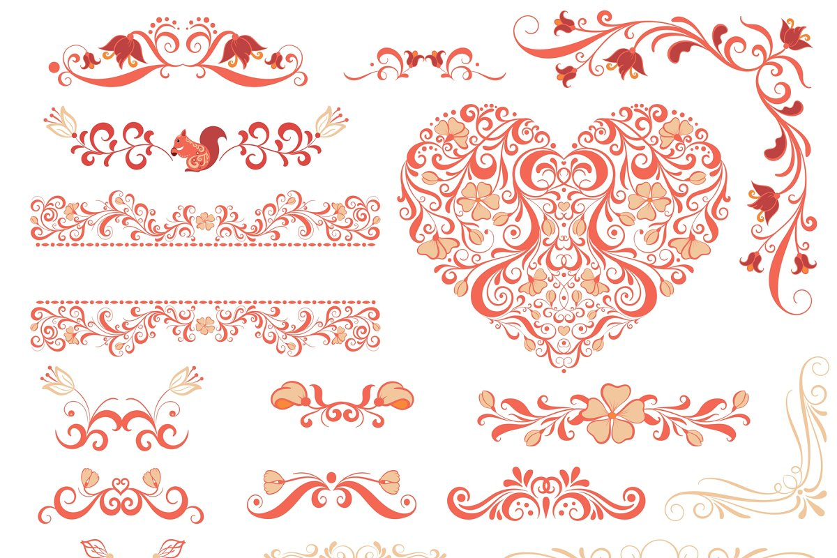 160 Hand Drawn Vector Elements