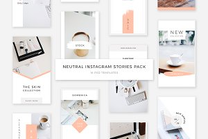 Neutral Instagram Stories Pack