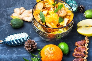 Christmas detox fruit salad
