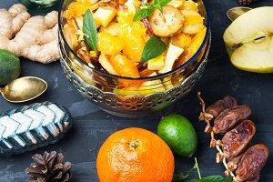 Christmas detox fruit salad