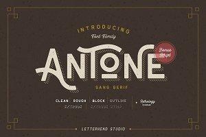 Antone Family - 7 FONTS