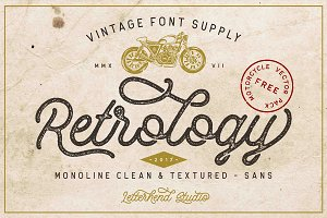 Retrology - a retro monoline script