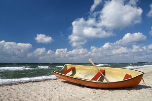 Boat on Danish beach