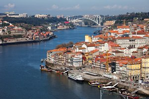 Porto at Douro River in Portugal