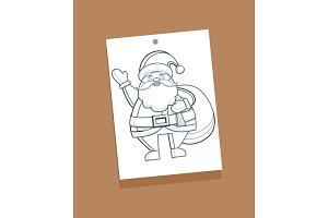 Santa Claus Sketch Picture Vector Illustration