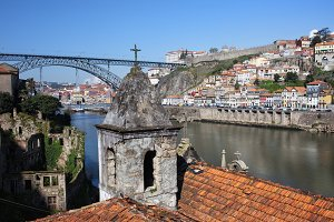 Cities of Porto and Gaia in Portugal