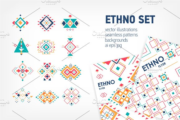 Geometric elements in ethnic style