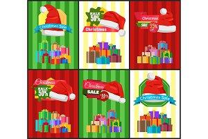 Big Set Christmas Sale Advertisement Promo Posters