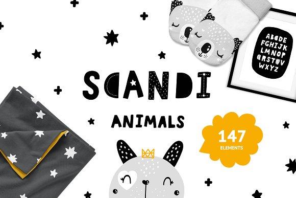 Scandinavian Animals - Nursery print in Illustrations