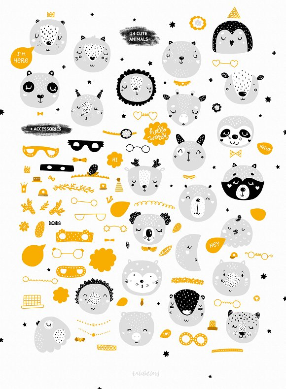 Scandinavian Animals - Nursery print in Illustrations - product preview 1