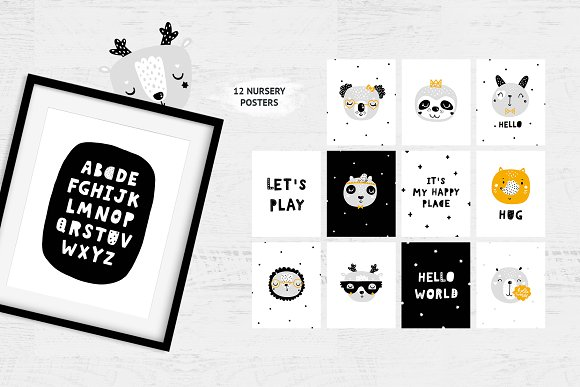 Scandinavian Animals - Nursery print in Illustrations - product preview 3
