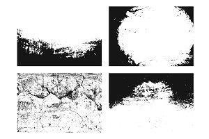 Set of grunge texture
