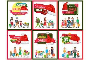 Set of Christmas Sale Premium Quality Banners