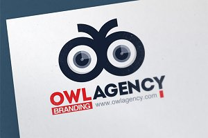 Owl Eye Logo Template