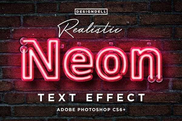 Photoshop Layer Styles: Designdell - Realistic Neon Photoshop Effect
