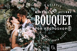 Bouquet Wedding Photoshop Actions