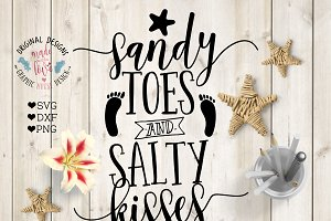 Sandy Toes Salty Kisses Cut File
