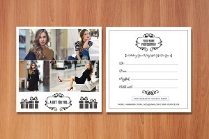 Photography Gift Certificate Card