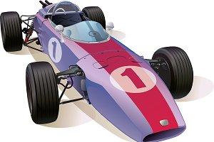 Classic F1 Racing Car