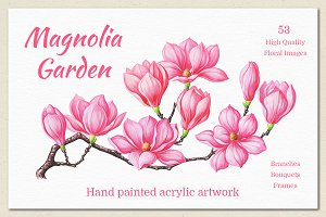 Magnolia. Hand Painted Collection
