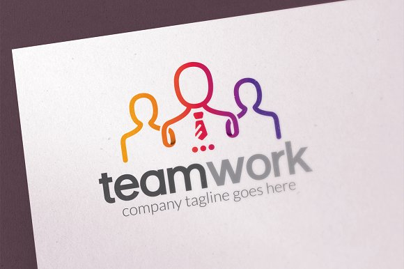 People Team Logo Template