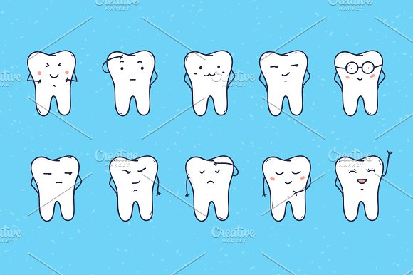 Funny teeth in Illustrations - product preview 1