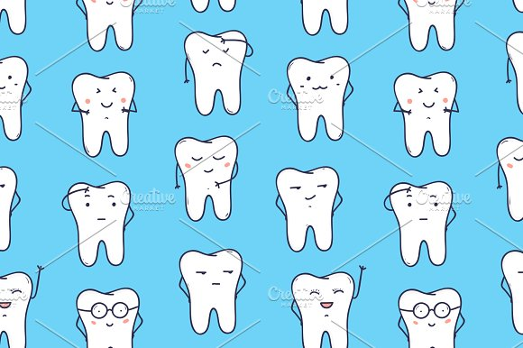 Funny teeth in Illustrations - product preview 2