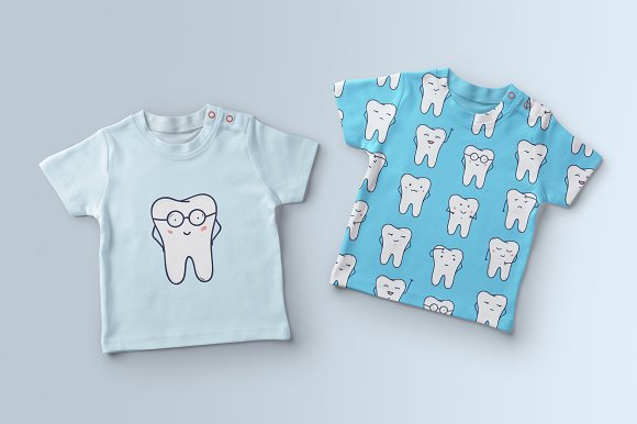 Funny teeth in Illustrations - product preview 3