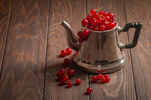 red currants in a jug