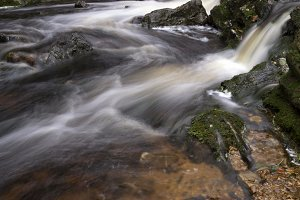 Waterfalls in the river Hoegne